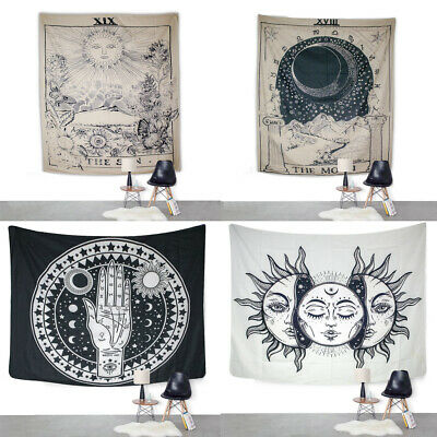 US Hippie Psychedlic Tapestry Sun Face Wall Hanging Wall Blanket Home Decoration