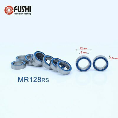 Metric Blue Rubber Sealed Ball Bearing 8*14*4 MR148RS 8x14x4mm 10pc MR148-2RS