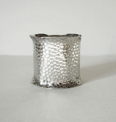 ANTIQUE ARTS & CRAFTS HAMMERED SILVER NAPKIN RING ~ c. 1900-20
