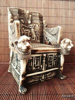 Amazing Handmade Ancient Egyptian Royal Chair Museum Collection King Tutankhamen