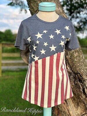 🗽🗽NEW!! Crazy Train Betsy Ross Slant top *4TH OF JULY*red WHITE BLUE-LARGE