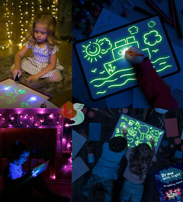 Glowing Paint Glow Light Tablet Draw With Light Fun Kids Developing Toys