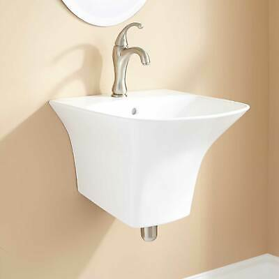 "Signature Hardware 18"" Kyndle Porcelain Wall Mount Bathroom Sink"
