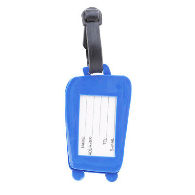Silicone Luggage Tags Suitcase Baggage Travel Name Address ID Tag Label BB