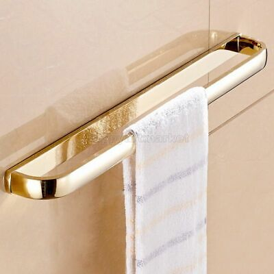 Luxury Gold Brass Towel Rail Holder Bathroom Wall Mount Single Towel Rails Bars