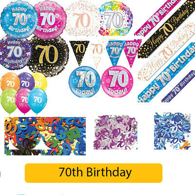 AGE 70 - Happy 70th Birthday Party Decorations (Oaktree) Banners & Bunting