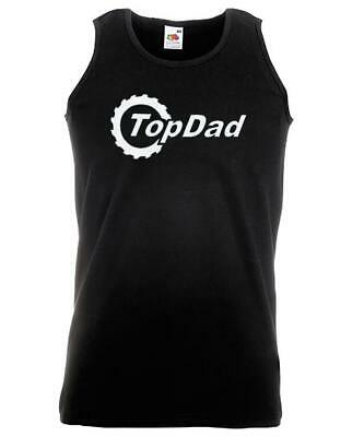Unisex Black Top Dad Gear Vest Father's Fathers Day Car Racing Motor