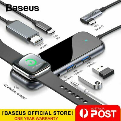 Baseus USB HUB Type C to HDMI RJ45 Multi USB3.0 SD/TF PD Charge Adapter Splitter