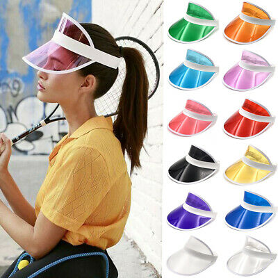 New Summer PVC Hat Sun Visor Party Casual Hat Clear Plastic Adult Sunscreen Cap