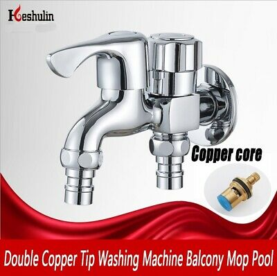 Double Copper Tip Washing Machine Faucet Balcony Mop Pool Washing Machine Faucet