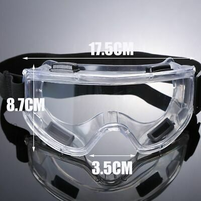 Clear Lens Protective Safety Glasses Eye Protection Goggles Lab Work Universal