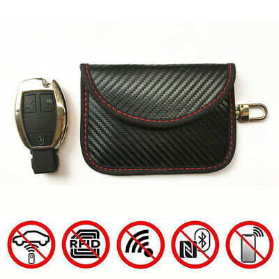 Car Keyless Key Entry Fob Guard Faraday Bag Theft Prevention Signal Blocker Case