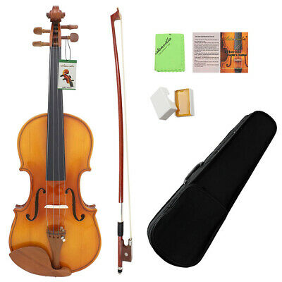 ASTONVILLA Maple Wood 4/4 Acoustic Violin with Violin Accessories Carry Case