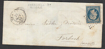 N°14 Pc 3719 Cherchell Algerie Forbach Moselle Cad Type 13 Lettre Cover France