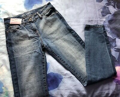 Next - Womens Relaxed High Rise Blue Jeans Uk Size 6/34 Regular - Bnwt