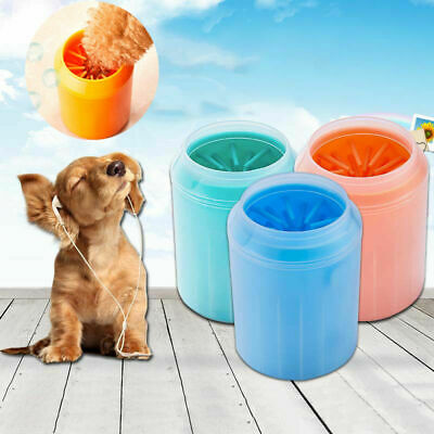 Portable  Dog Foot Cleaner Feet Washer Dog Paw Cleaner Pet Cleaning Brush Cup