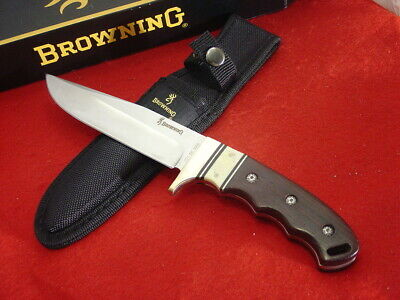 """Browning Knives Model 318 11"""" Full Tang Fixed Blade Contemporary Bowie Knife MIB"""