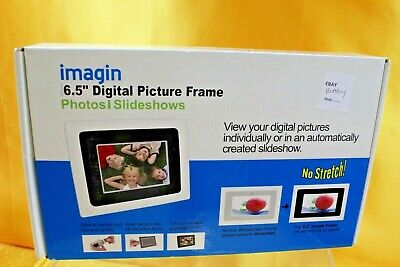 "Imagin 6.5"" Digital Picture Frame Photo Slideshows New Boxed  ## Bla  59  Lc"