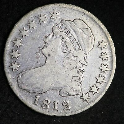 1812 Capped Bust Half Dollar CHOICE VF FREE SHIPPING E312 XPR