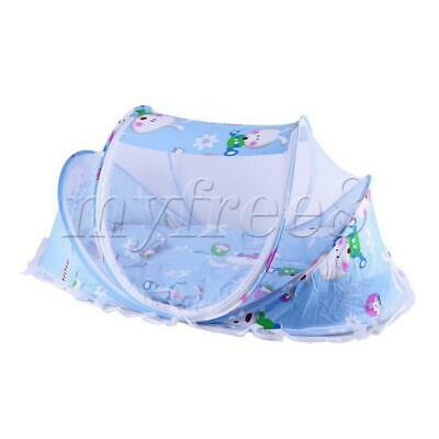 Newborn Thin Summer Mosquito Net Portable Folding Crib Rabbit blue