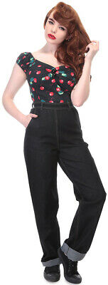 Nomi High Waisted Rockabilly COLLECTIF Jeans rockabilly vintage 1950s 1940s prom