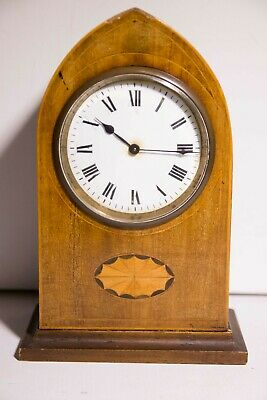 VINTAGE wooden cased FRENCH MANTLE CLOCK