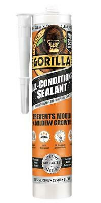 All Conditions Silicone Sealant, Clear 295ml - GORILLA