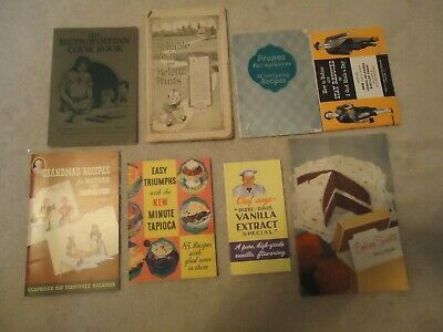 Lot of Vintage Miscellaneous Cook Books and Recipe Books Knox etc...