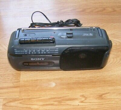 CFM-155 SONY Mini Vintage Boombox Radio AM FM Cassette Player Recorder TESTED