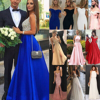 Women Formal Wedding Bridesmaid Long Evening Party Prom Gown Cocktail Dress Lot