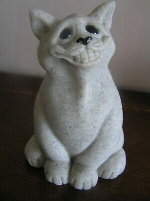 QUARRY CRITTERS CAT FIGURINE 'CHICO' 11 cms HIGH WITH COA 2000 CHEEKY GRIN