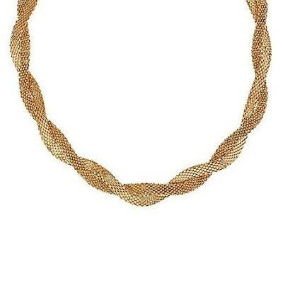 692d70d4f2013b Italian Silver Yellow Gold-Plated Double Wrapped 18