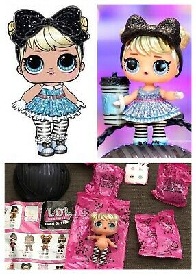 LOL Surprise Curious QT Cutie Glam Glitter Series2 Doll Ball Alice In Wonderland