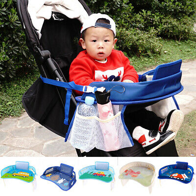 Safety Waterproof Snack Baby Car Seat Table Stroller Tray Kids Play Travel Tray