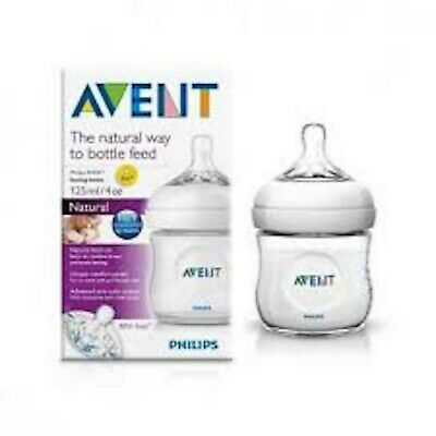 2 X Avent Natural Feeding Bottle 125Ml Clear Best Price Free Postage