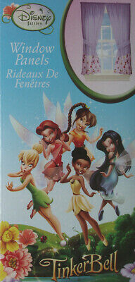 DISNEY PETER PAN Movie Purple TINKERBELL Fairy Fabric Window Valance