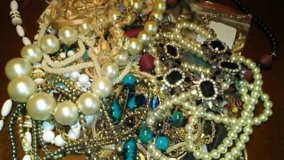 Resale Lot- 15 to 20lb Box - Costume Jewelry - free shipping!