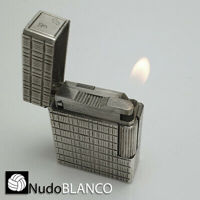 """ST DuPont Lighter Line 1 Small Silver Functional personal monogram """"SP"""""""
