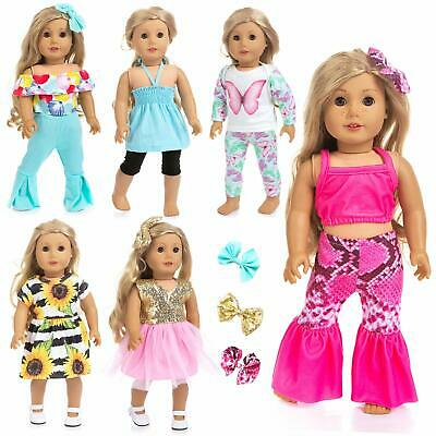 "Ecore Fun 6 Outfits for American 18"" Girl Doll Clothes Dress Summer Casual Wear"