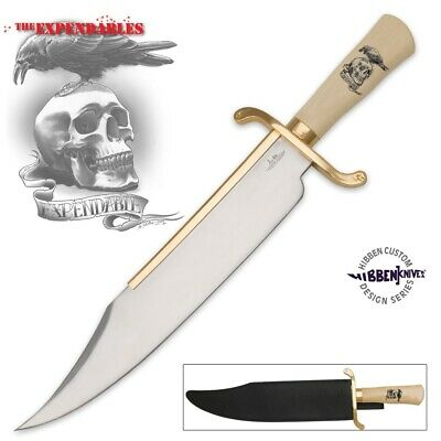"""Gil Hibben Large 20"""" Expendables Bowie Knife Stainless Steel w/Sheath 2 GH5017"""
