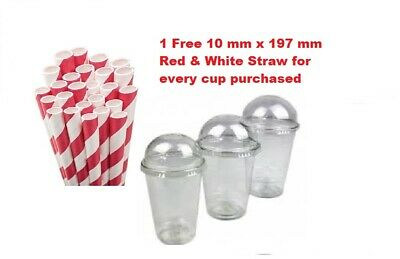 500  Milkshake Smoothie Plastic Cups 16 Oz With A Dome Lids