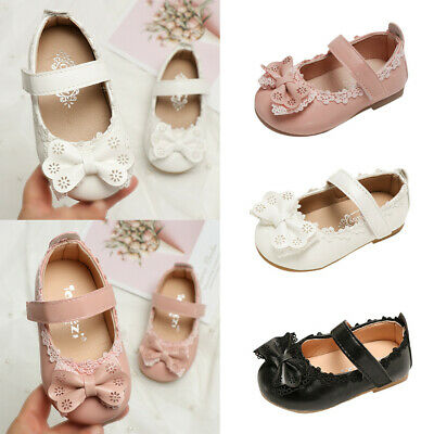 0-6Y Toddler Infant Kids Baby Girls BowKnot Single Princess Shoes Sandals