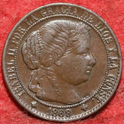 1868 Spain 1 Centimo Foreign Coin