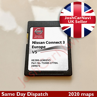 Nissan Connect 3 V5 Lcn3 Sd Card Map Navigation Map Uk And Europe 2020 - 2021