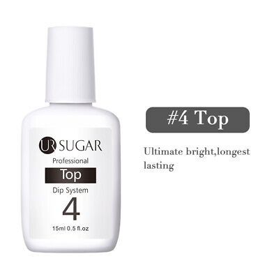 UR SUGAR 15ml Nail Art Dipping Powder Liquid without UV LED Lamp Cure #4 Top