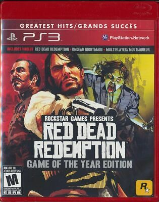Red Dead Redemption - Game of the Year Edition (Sony PlayStation 3, 2011)
