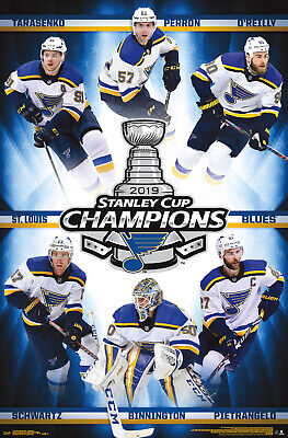 St. Louis Blues STANLEY CUP CHAMPIONS 2019 Official NHL Commemorative POSTER