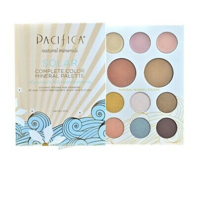 Pacifica Natural Minerals solar complete color mineral eye shadow palette vegan
