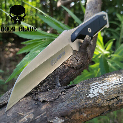 9.5in Steel Full Tang Fixed Blade Knife 4.3 Drop Point Blade G10 Handle Survival