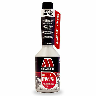 Millers Oils Diesel Car Vehicle Fuel Injector Cleaner Cleaning Additive 250ml